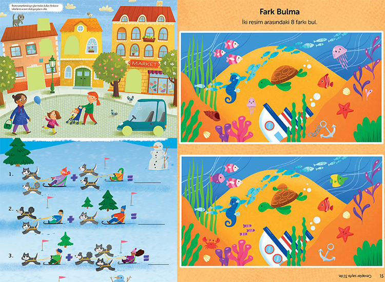 Eğlenceli-Öğretici Aktivite Kitabı 4 lü Set.
